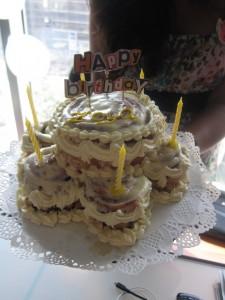 Birthday Girls: Cinnabon cake