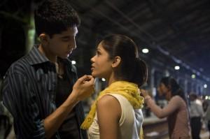 Dev Patel and Frieda Pinto in 'Slumdog Millionaire'