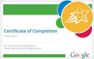 Google: Certificate of Completion